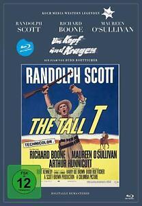 Per-testa-e-collo-Blu-Ray-nel-Diggi-Pack-Nuovo-Scatola-Originale-Randolph-Scott-Maureen-O-039-su