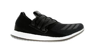 Para hombre Adidas Pureboost R M Negro Textil Correr Entrenadores AQ3486
