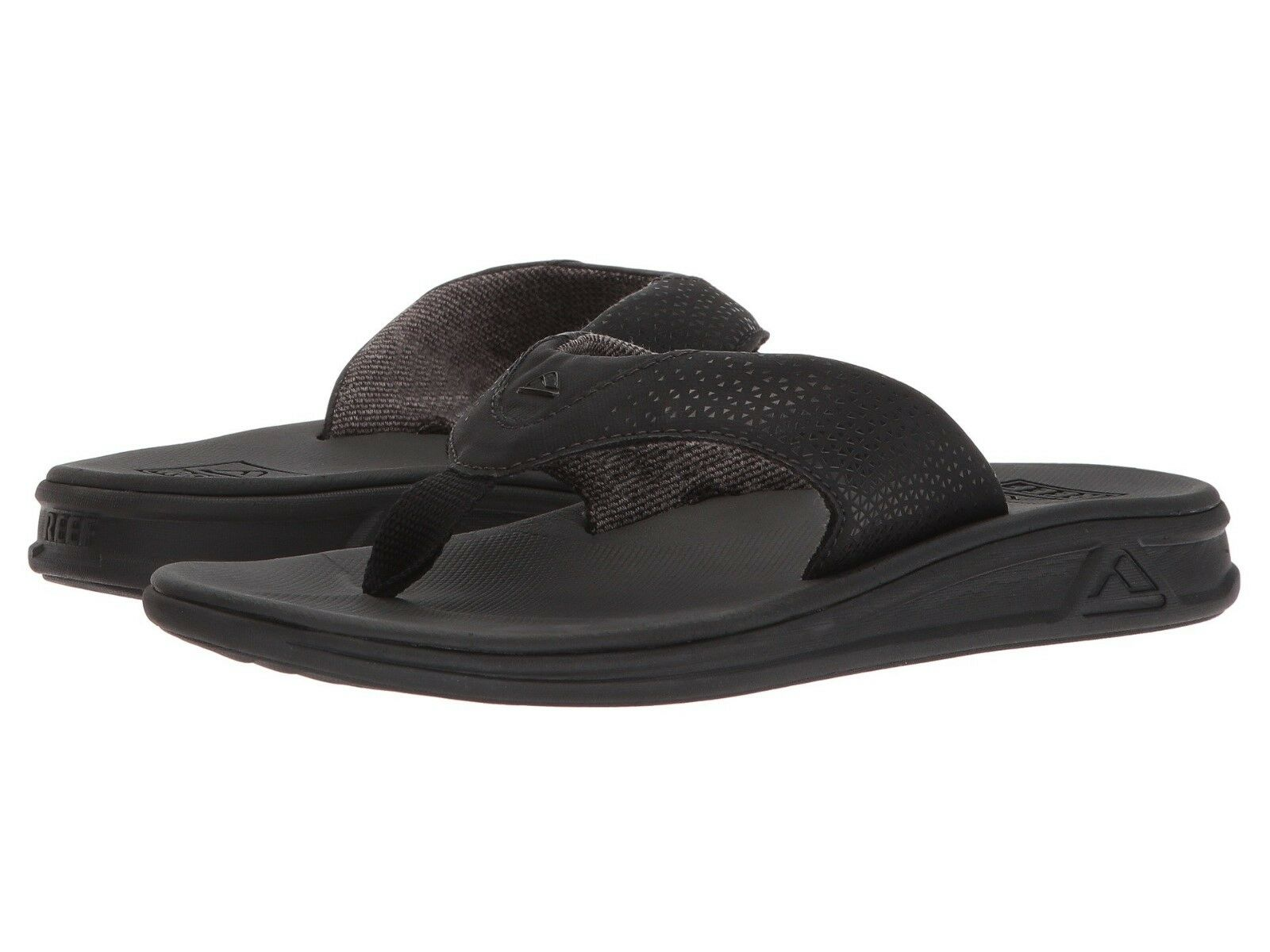 3d7df7045955 NEW MEN REEF ROVER TECHNOLOGY COMFORT SANDAL FLIP FLOP ALL ALL ALL BLACK  ORIG RF002295 003eb4
