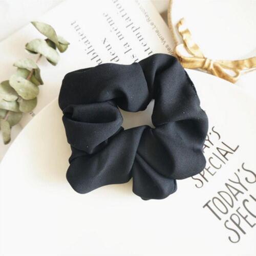 Lady Pure Color Trendy Hair Scrunchie Ring Elastic Bobble Dance Scrunchie New so