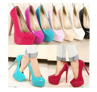 sexy new womens pointed toe platform super high heels party court pump shoes c56