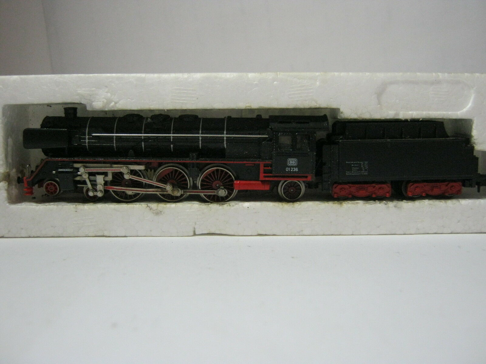 Minitrix N 2900 locomotiva a vapore btrnr 01 236 DB  rg/aw/50s5