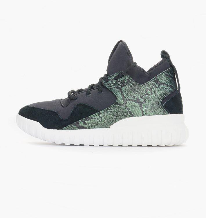 Adidas Originals Men's TUBULAR X shoes Black Green S31988 a