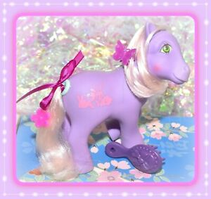 ❤️My Little Pony G1 VTG Romper Bunny Rabbit HAPPY TAILS Purple Pink Earth❤️
