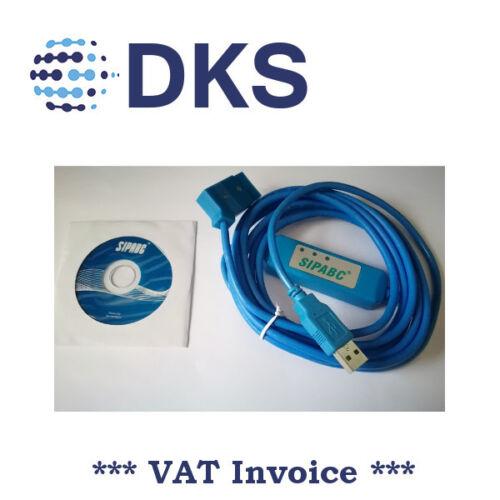 DB9P A 8P Mini Din RS232 Cable De Descarga Blanco 8.2 Para PLC DVP-EH O4N7
