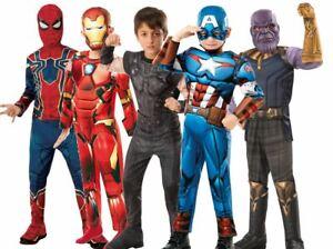 Deluxe Thor Infinity War Boys Fancy Dress Superhero Avengers Kids Childs Costume