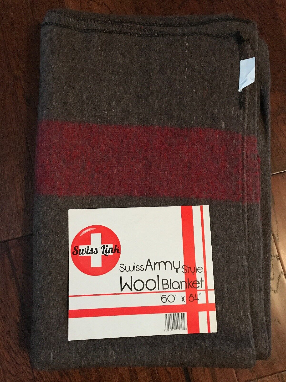Swiss Army style Wool Camping Hunting Cabin Blanket 60x84 made in India