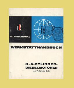 IHC  International D-99 D-111 D-132 D-132S D-148  Dieselmotor Werkstatthandbuch