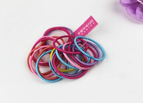 100pcs   Girls Elastic Tiny Hair Tie Band Rope Ring Ponytail Holder