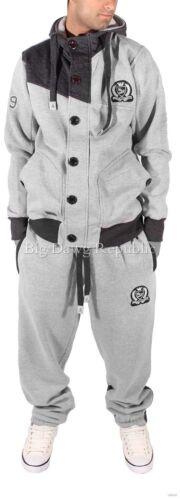 Men/'s Designer Tracksuit Jog Pants Gym Full Zip Up Hoodie Jacket Skater