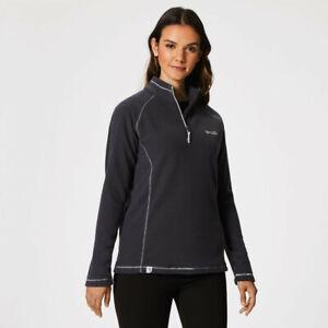 Regatta-Womens-Kenger-Half-Zip-Fleece-Top-Grey-Sports-Outdoors-Breathable