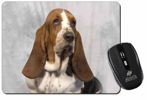 Basset Hound Dog Computer Mouse Mat Christmas Gift Idea AD-BH6M