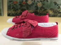 NWB WOMENS AUTHENTIC PRADA PINK PATENT LEATHER TAFFETA SNEAKERS SHOES 39.5 40