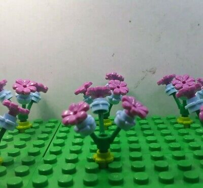 NEW LEGO 10 x LIME GREEN BUNCHES OF FLOWERS WITH STEMS /& LEAVES FRIENDS