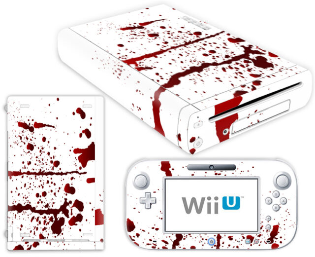 Nintendo Wii U Skin Design Foils Sticker Screen Protector Set - Blood Motif
