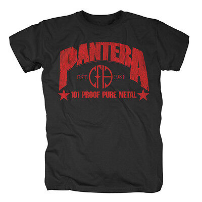 Rational Pantera Herrenmode Kleidung & Accessoires 101 Proof Pure Metal T-shirt Online Shop