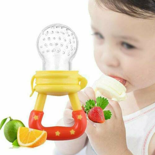 Safe Baby Weaning Feeding Teething Pacifier Dummy Nutrition Fresh Fruit Teether