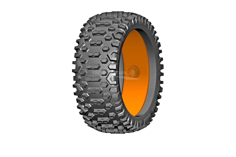 BU-BIG CROSS - P1 Soft Donut Tyre w  insert - 1 Pair
