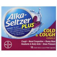 Alka-seltzer Plus Cold - Cough Liquid Gels 10 Ea (pack Of 2) on sale