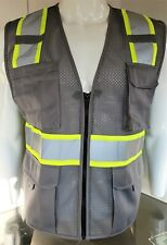 Fx Two Tone High Visibility Reflective Gray Safety Vest