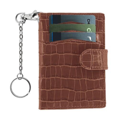 WalletBe Leather RFID Keychain ID Wallet