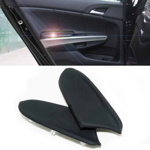 2pcs DIY Black Front Door Panels Armrest Leather Skin Covers for 2008-2012  Honda