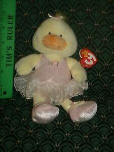 """Ty Beanie Baby * ALLEGRO * 8"""" Ballerina Duck ~ 2005 ~ MWMT ~ RETIRED ~ VHTF"""