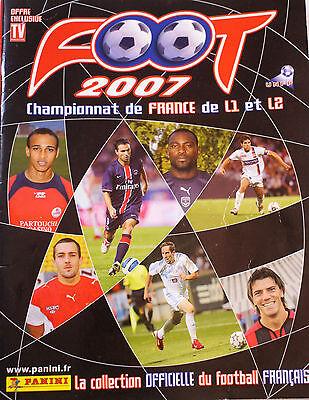 PANINI ALBUM VIDE SET COMPLET  FOOTBALL CHAMPIONNAT FRANCE 2007 RARE  NEUF