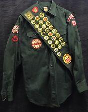 Rare Vintage BSA 1950s Explorer Boy Scout Uniform Badges Sash Pants Shirt Belt