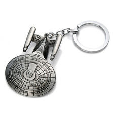 New Star Trek Spaceship Enterprise Stereoscopic Keyring Keychain Silver Color PO