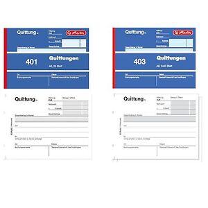 50 Blatt 5x Herlitz Quittungsblock 401 A6
