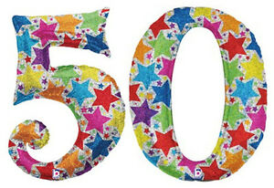 50th-BIRTHDAY-BALLOONS-40-034-GIANT-MULTICOLOURED-HOLOGRAPHIC-FOIL-NUMBER-BALLOONS