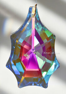 63mm-Crystal-Prism-Suncather-Clear-AB-Funky-7-point-Pendalogue-2-1-2-034-New-2019