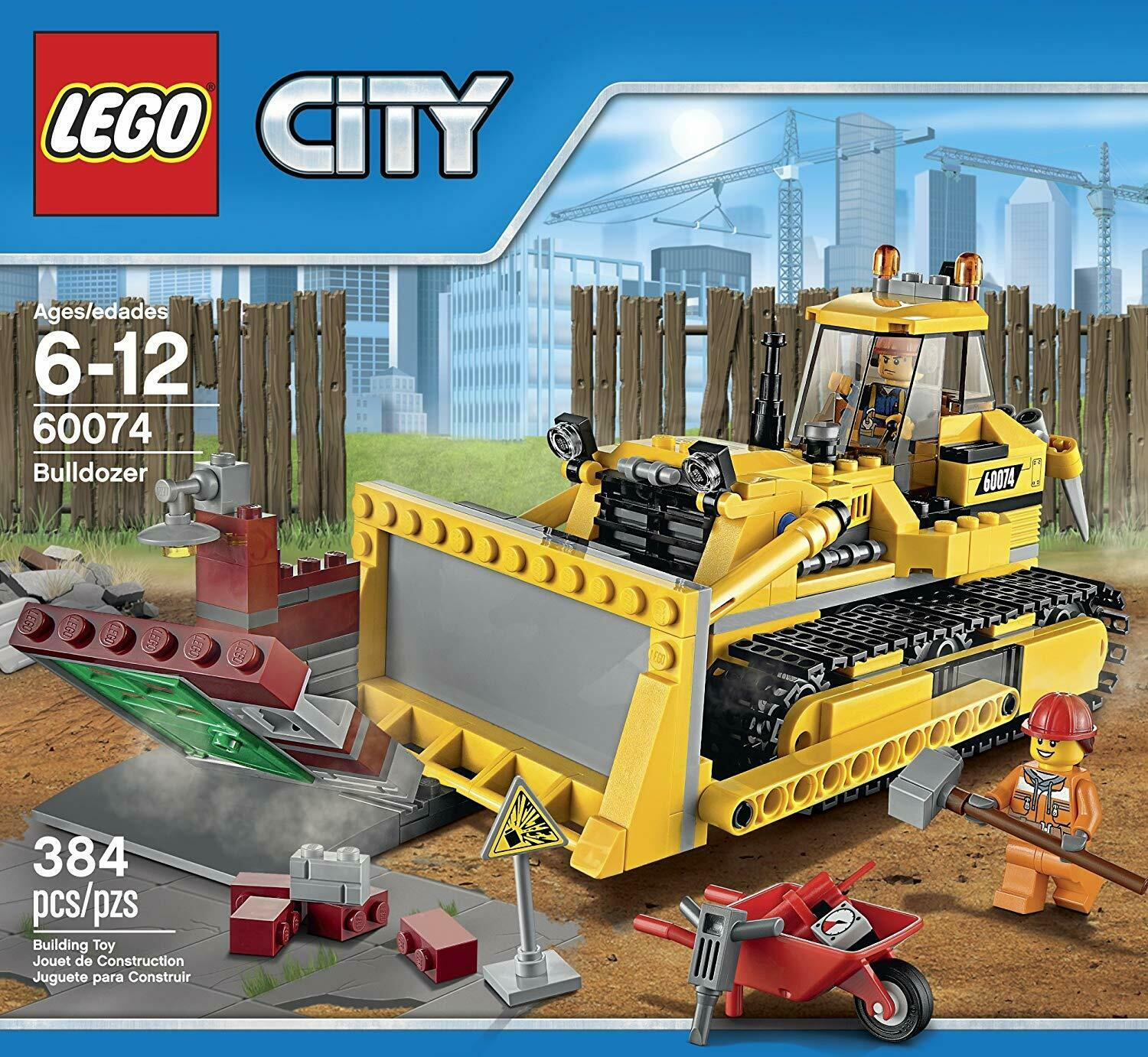 NEW LEGO City Bulldozer Building Play Set 60074 Factory Sealed Box