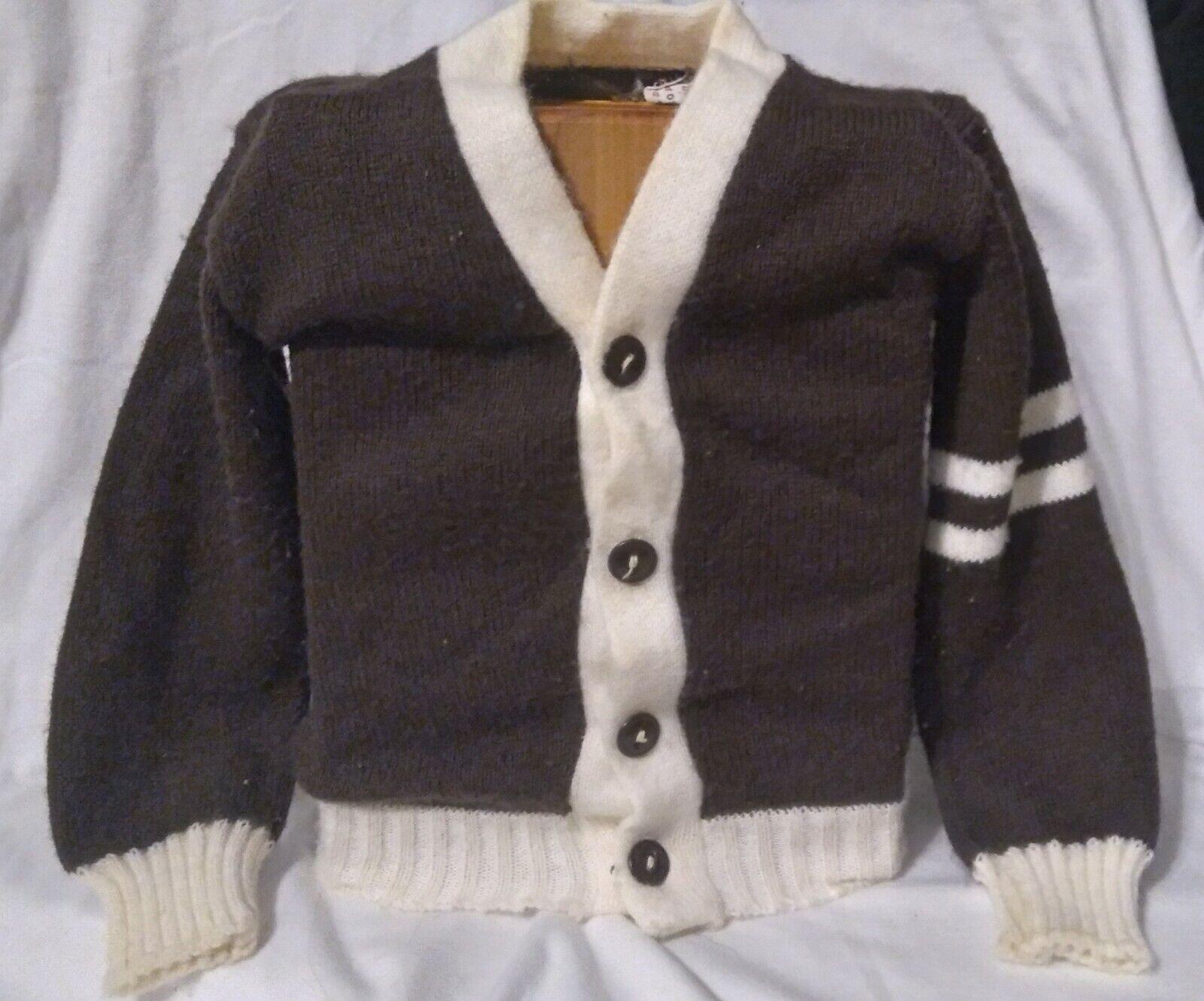 Vintage baby varsity sweater virgin orlon - image 1
