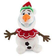 "DISNEY STORE FROZEN MINI BEAN BAG PLUSH HOLIDAY OLAF SNOWMAN 7"" ELF COSTUME NWT"