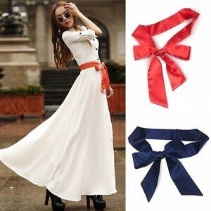 Ladies-Satin-Waistband-Faux-Silk-Waist-Belt-Sash-Lace-Up-Bow-Tie-for-Dress-Decor