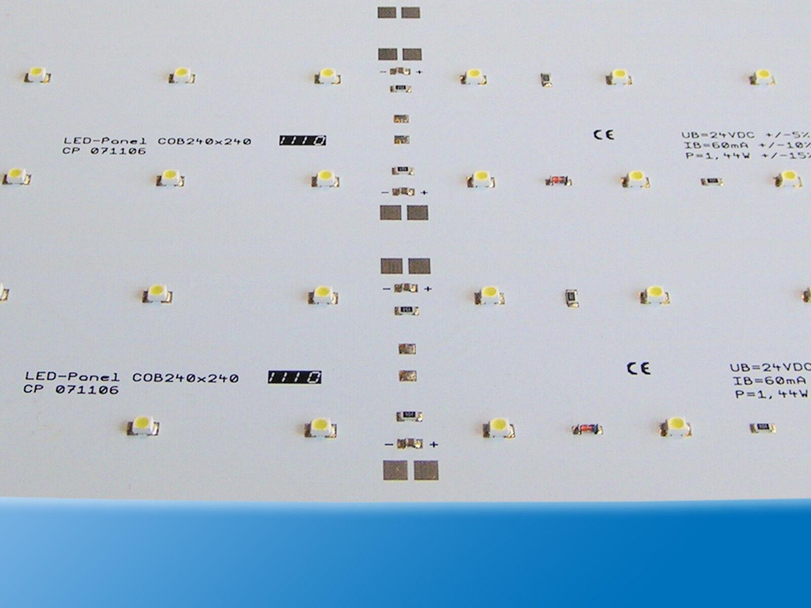 10x LED LED LED Panel   240x240mm   Kalt Weiß   6000K   24V   64LEDs   Lötanschluss  | Zahlreiche In Vielfalt  eb6355
