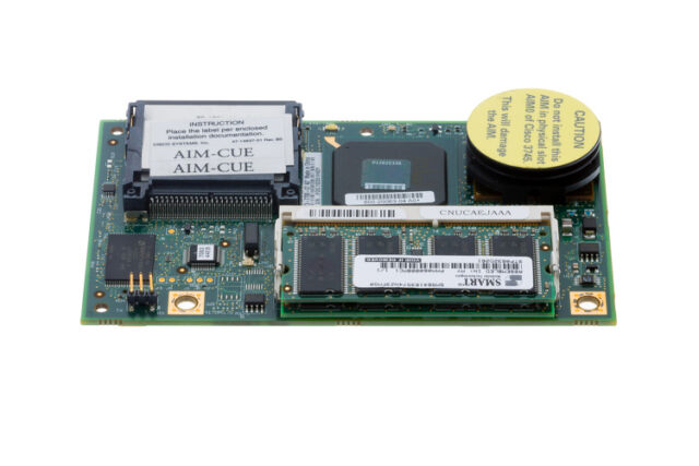 CISCO AIM-CUE Unity Express Advanced Integration Module 50 MAIL-BOX CUE 7.0.3