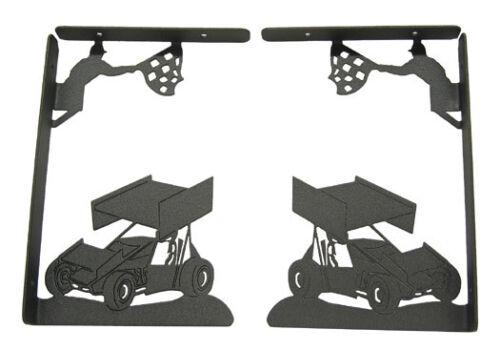 Sprint car black metal shelf bracket (sold as a pair)