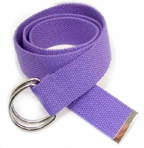 """size 20/"""" to 42/"""" PURPLE 1.5/"""" WIDE CANVAS BELT W// /""""D/"""" RING BUCKLE"""