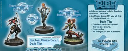 Infinity BNIB dire ennemis mission pack 3 dark mist (Caledonia vs jap secte army)