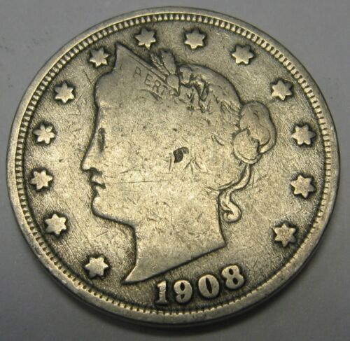 1908 Liberty V Nickel in the GOOD Range A Great Filler Coin DUTCH AUCTION