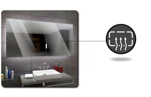 Osaka éclairé del Miroir salle de bain LED interrupteurs maquillage anti buée