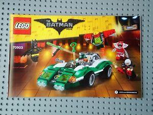 Lego-Bauanleitung-70903-Batman-Film-der-Riddler-Raetsel-Racer-Manual-only