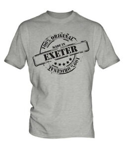 MADE IN EXETER MENS T-SHIRT GIFT CHRISTMAS BIRTHDAY 18TH 30TH 40TH 50TH 60TH