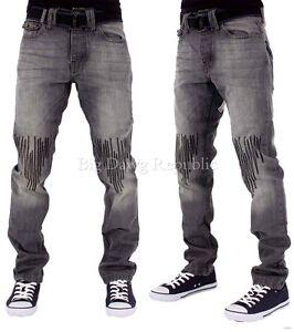 Is Time Money Peviani Men/'s Designer Jeans Hip Hop G Goth Biker Star Rugley