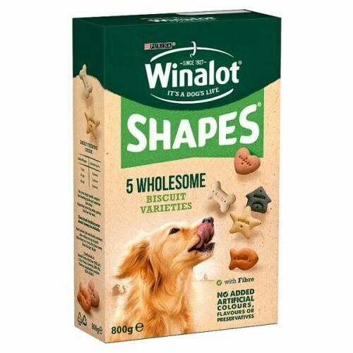 winalot shapes 800g - biscuit variety of shapes,classic,original box,treat/rewar