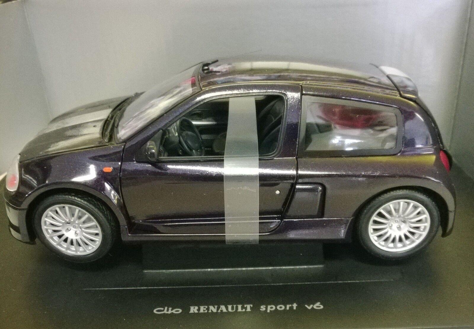 UNIVERSAL HOBBIES 1 18 AUTO DIE CAST RENAULT CLIO SPORT V6 VIOLA viola ART 4502