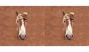 Baumwoll-Panel-Jersey-Stoff-Digital-Print-Pferde-Pferdekopf-Masse-70cm-x-150cm